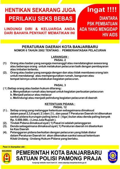 Perda Kota Banjarbaru tentang Pelacuran