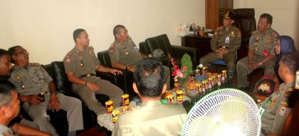kasatpol PP Provinsi dan Kasatpol PP Kota Banjarbaru